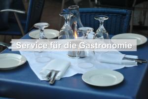 Wir unterstützen die Gastronomie